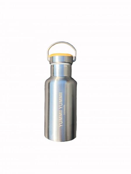 kleine Thermosflasche mit Bambusdeckel 350 ml Edelstahl Trinkflasche
