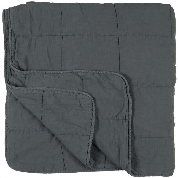 Ib Laursen Tagesdecke Quilt 240x240 cm dunkelblau