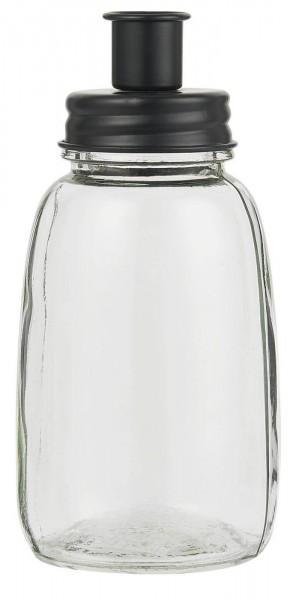 IB Laursen Kerzenhalter für Stabkerze Metalldeckel schwarz