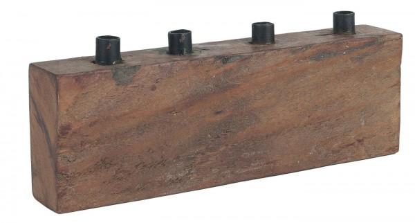 IB Laursen Kerzenständer Holz Metall rustikal